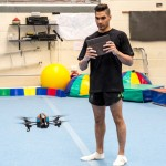 Lewis Smith flying Parrot AR.Drone 2.0