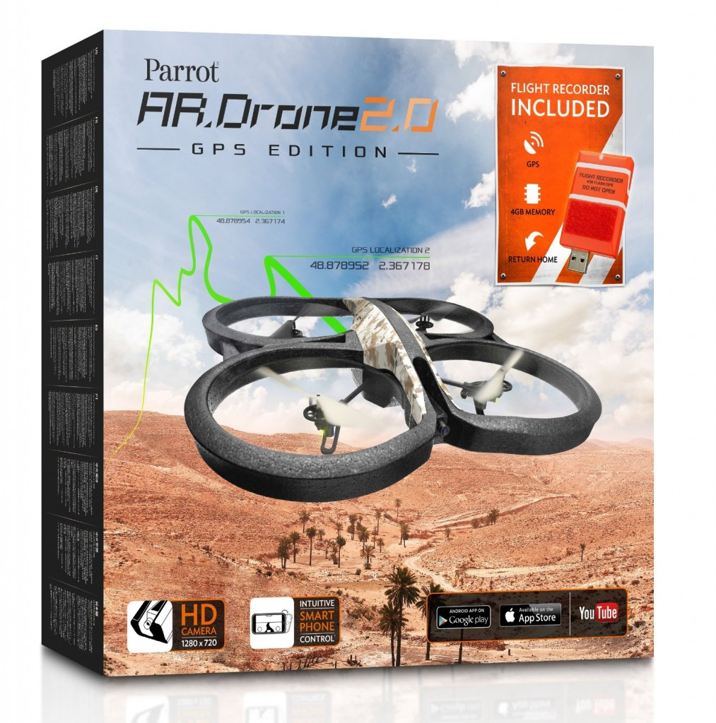 Parrot AR.Drone 2.0 GPS Edition Packaging